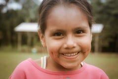 Ragazza con le fossette in Bolivia Fotografie Stock