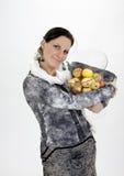 Ragazza con le mele. Immagini Stock Libere da Diritti