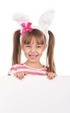 Ragazza con le orecchie del coniglietto fotografia stock libera da diritti
