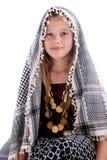 Ragazza con lo scialle arabo Immagine Stock Libera da Diritti
