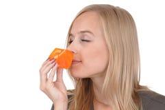 Ragazza con sapone Fotografia Stock
