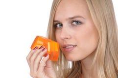 Ragazza con sapone Fotografie Stock Libere da Diritti
