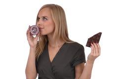 Ragazza con sapone Immagine Stock