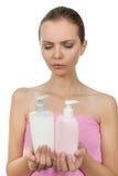 Ragazza con sapone Fotografia Stock Libera da Diritti