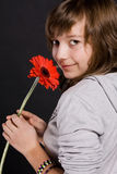 Ragazza con un fiore Immagine Stock Libera da Diritti
