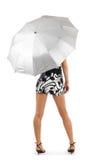 Ragazza con un ombrello Immagine Stock Libera da Diritti