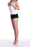 Ragazza con una bella figura che si leva in piedi sulla punta dei piedi Fotografia Stock Libera da Diritti