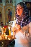 Ragazza con una candela. Fotografia Stock Libera da Diritti