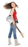 Ragazza con una chitarra Fotografia Stock Libera da Diritti