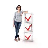 Ragazza con una lista di controllo Immagine Stock Libera da Diritti