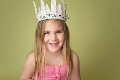 Ragazza in corona, principessa Fotografie Stock