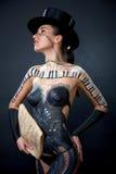 Ragazza, corpo-arte Fotografia Stock Libera da Diritti