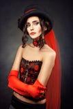 Ragazza in corsetto Fotografie Stock Libere da Diritti