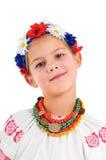 Ragazza in costume nazionale ucraino Immagini Stock Libere da Diritti