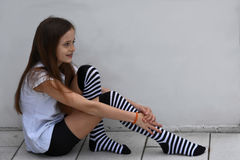 Ragazza creola dell'adolescente Immagini Stock