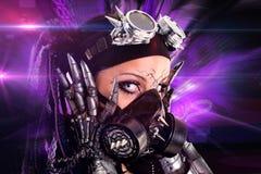 Ragazza Cyber-gotica Immagine Stock Libera da Diritti