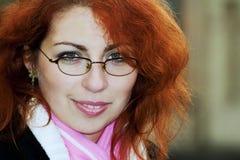 Ragazza dai capelli rossa Fotografie Stock Libere da Diritti
