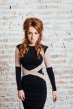 Ragazza dai capelli rossi dei ritratti emozionali di bellezza Fotografia Stock Libera da Diritti