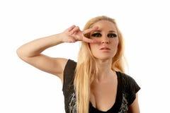 ragazza degli Fumoso-occhi immagine stock libera da diritti