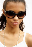 Ragazza degli occhiali da sole Immagine Stock