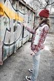 Ragazza dei graffiti immagini stock