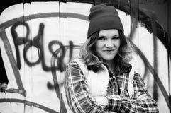 Ragazza dei graffiti Fotografie Stock