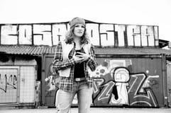 Ragazza dei graffiti immagine stock libera da diritti