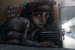 Ragazza dei graffiti fotografia stock libera da diritti
