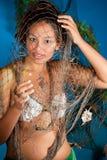 Ragazza dei pesci dello zodiaco Fotografie Stock Libere da Diritti