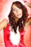 Ragazza del Babbo Natale Fotografie Stock Libere da Diritti