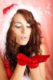 Ragazza del Babbo Natale Immagini Stock