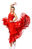 Ragazza del ballerino del latino di eleganza nell'azione Immagini Stock