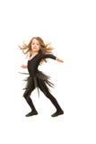 Ragazza del ballerino di bellezza nel moto Fotografia Stock Libera da Diritti