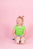 Ragazza del bambino nel rosa Immagine Stock Libera da Diritti