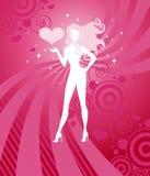 Ragazza del biglietto di S. Valentino Immagine Stock