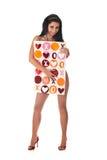 Ragazza del biglietto di S. Valentino Fotografia Stock Libera da Diritti