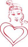 Ragazza del biglietto di S. Valentino Immagine Stock Libera da Diritti