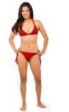 Ragazza del bikini isolata Fotografie Stock