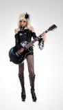 Ragazza del cabaret con la chitarra Fotografia Stock