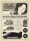 Ragazza del caffè illustrazione di stock