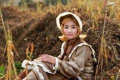 Ragazza del cinese di cosplay fotografia stock