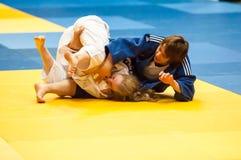 Ragazza del combattente nel judo Fotografia Stock Libera da Diritti