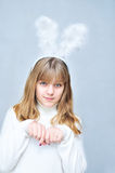 Ragazza del coniglio Fotografia Stock Libera da Diritti