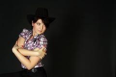 Ragazza del cowboy Fotografie Stock Libere da Diritti