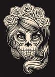 Ragazza del cranio dello zucchero royalty illustrazione gratis