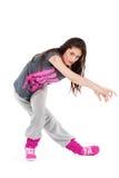 Ragazza del danzatore di Hip-hop Fotografia Stock