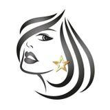 Ragazza del fronte di profilo royalty illustrazione gratis