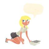 ragazza del fumetto che prende libro con il fumetto Fotografia Stock