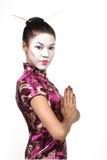 Ragazza del geisha Immagini Stock Libere da Diritti