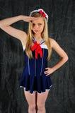 Ragazza del marinaio Fotografia Stock